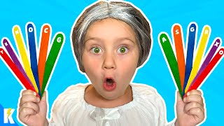 GRANNY is GASSY! (COLORS Escape Room at Granny's House for Kids!)  KIDCITY