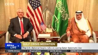 Top US diplomat begins talks on easing Qatar diplomatic row