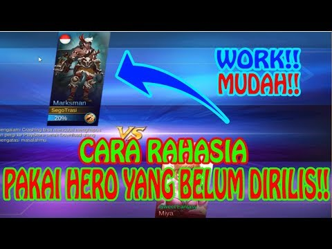 download CARA MENGGUNAKAN HERO BARU YANG BELUM RILIS!!-MOBILE LEGENDS INDONESIA