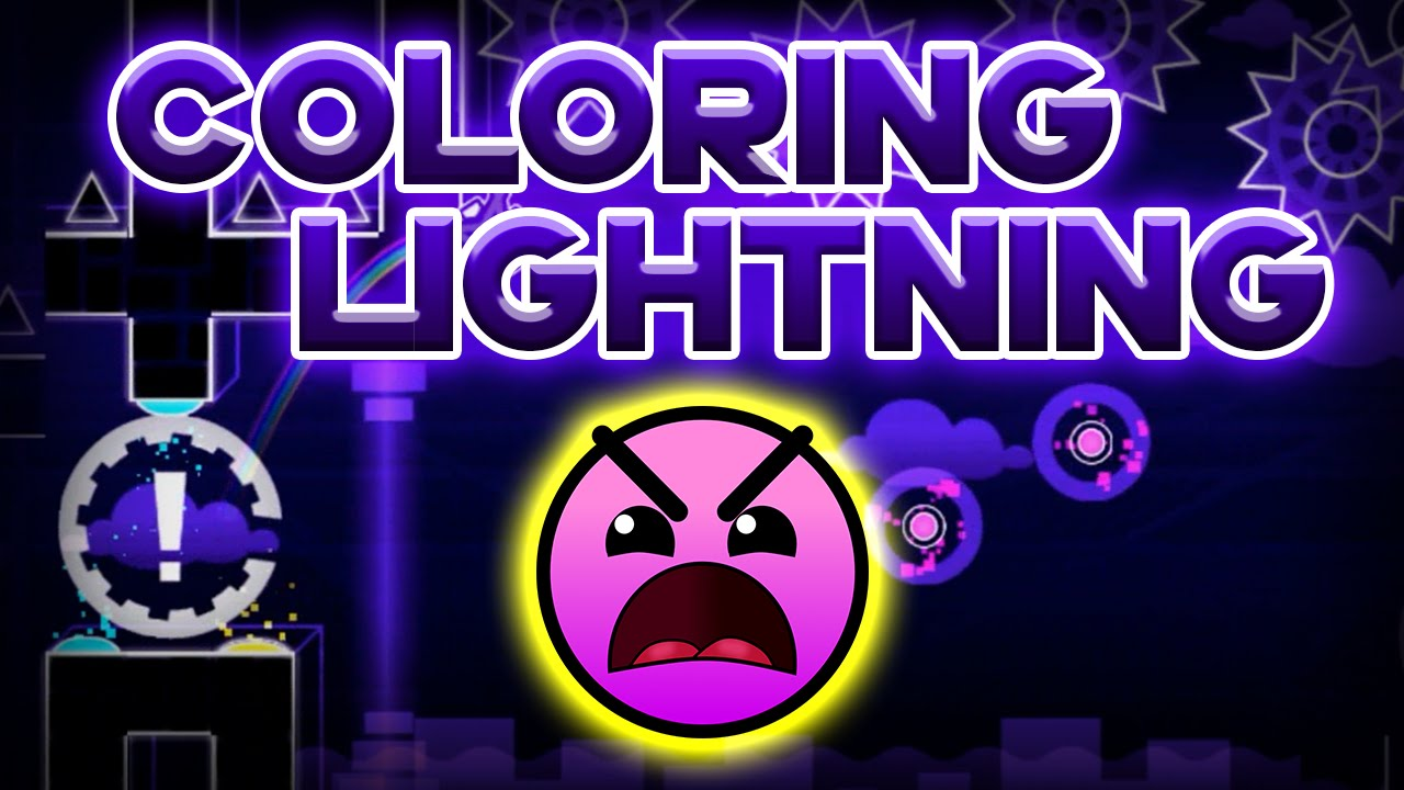 geometry dash 8 coloring lightning by gelt youtube - Geometry Dash Icon Coloring Pages