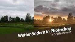 Wetter ändern / Sonnenuntergangsszene erschaffen | Photoshop Tutorial