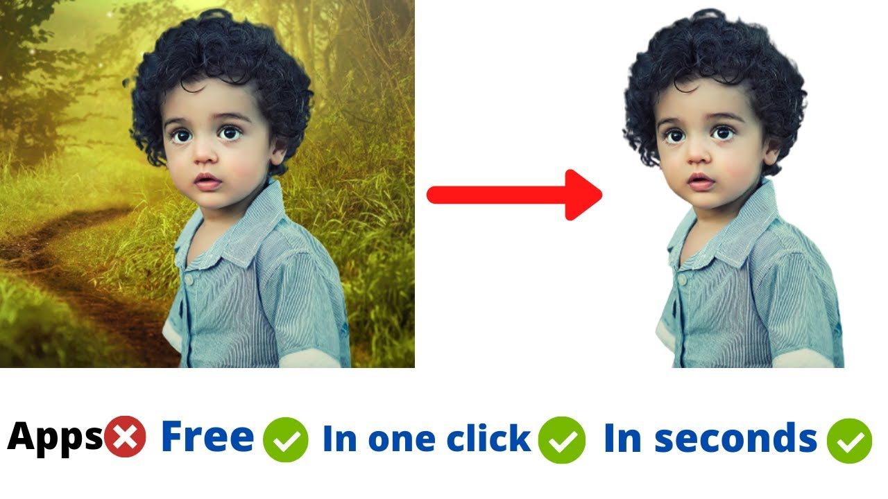 How To Remove Background From Photo Without Photoshop   How to Change Background Without Any App  