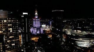Warszawa nocą z drona 4K / Warsaw at night with drone 4K – Drone X Vision