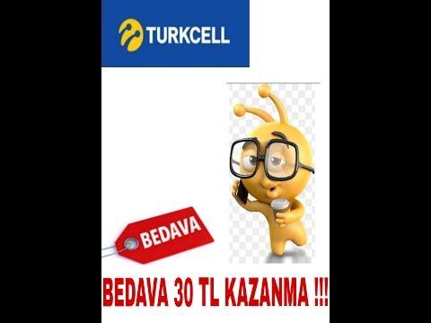 TURKCELL BEDAVA 20+10 TL KAZANMA!! EKİM 2018