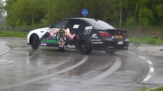 Roundabout Drifting with a BMW M5 V10 Botter Exhaust!