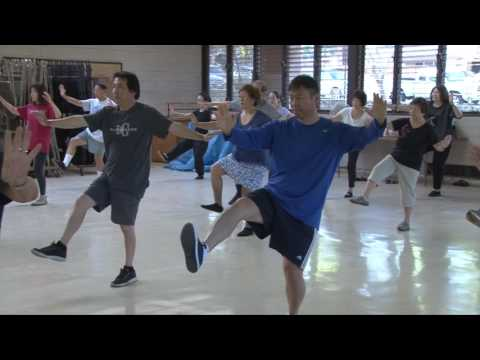 Lucy Drills on Transitions for Cloud Hands everydaytaichi lucy chun Honolulu, Hawaii