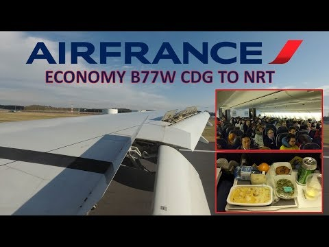 Air France Economy Class Experience: B777-300ER Paris CDG to Tokyo Narita