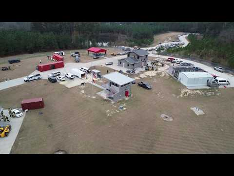 Extrication 2018 fly over at Sandhills Community College