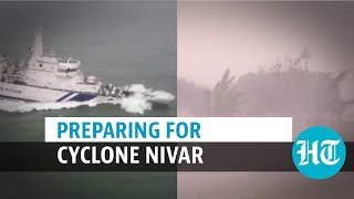 Watch: Coast Guard ship on alert as Cyclone Nivar approaches; NDRF chief briefs