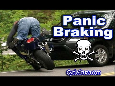 Motorcycle Panic Braking Danger | MotoVlog