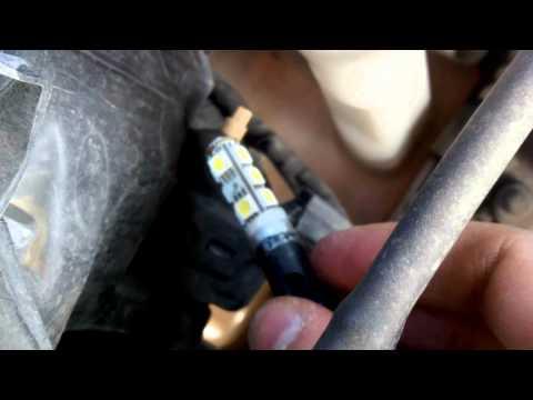 видео: Установка светодиодных ламп в габариты (kia ceed)