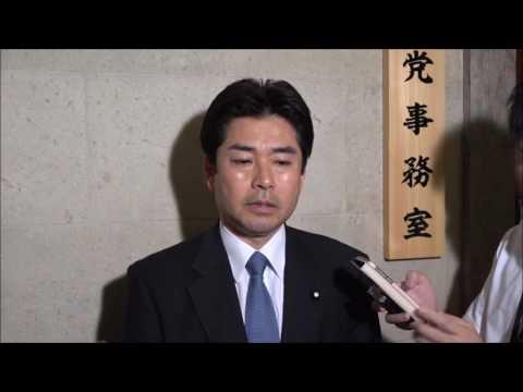 山井和則国会対策委員長ぶら下がり記者会見 2017年6月23日