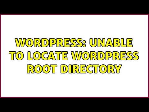 Unable to locate wordpress root directory update