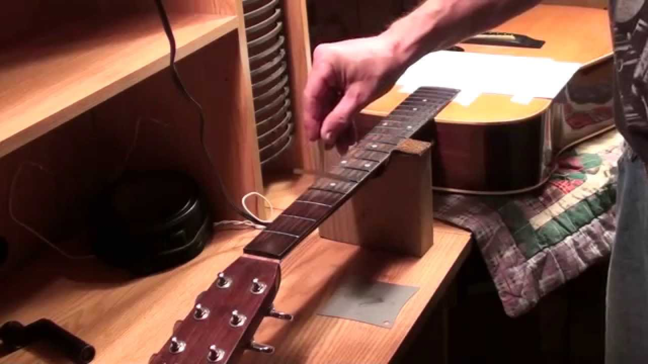 Sigma Acoustic Guitar Fret Dressing Set Up Saddle Replacement