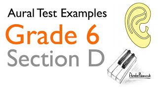 Aural Test Examples: Grade 6 ABRSM - Section D YouTube Videos