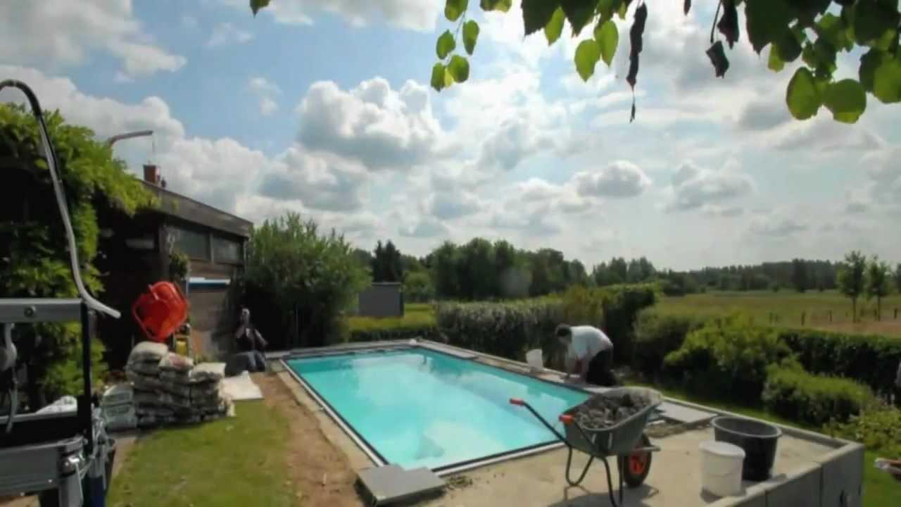 Opbouw monoblock zwembad youtube for Monoblock zwembad