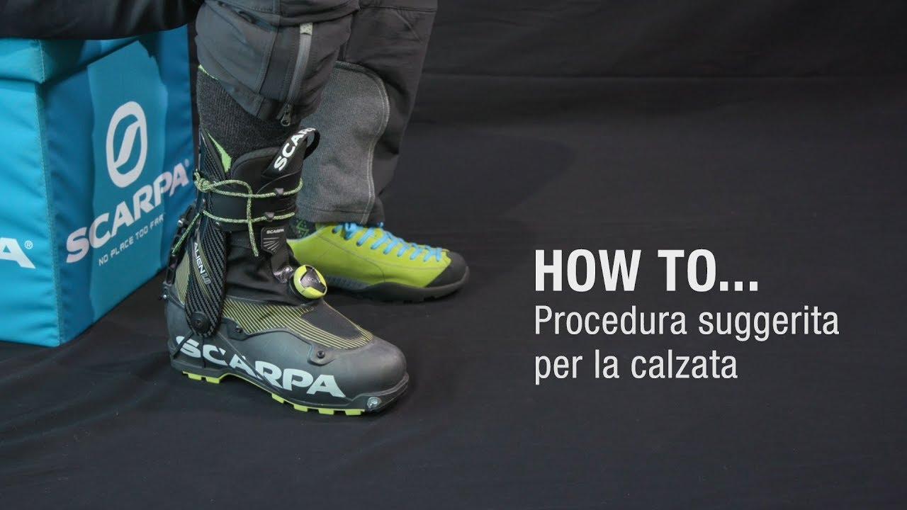 5e70798df How to...Procedura suggerita per la calzata ALIEN 1.0 - YouTube
