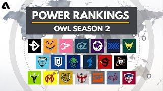 Overwatch League Season 2 Team Power Rankings | Akshon Esports