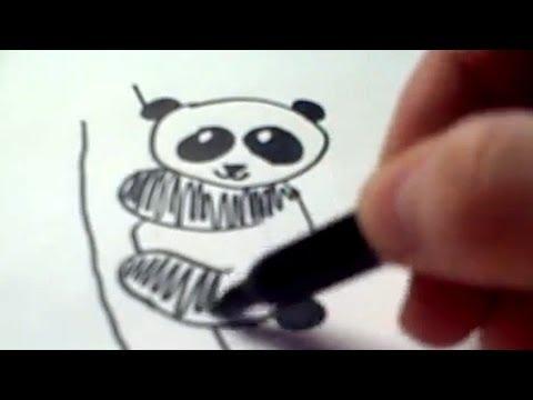 How to Draw a Cartoon Panda