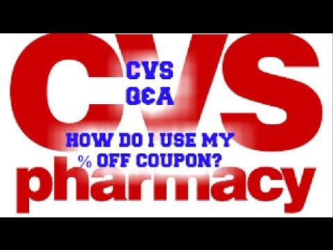 CVS Q&A:  HOW DO I USE MY CVS PERCENT OFF COUPON?