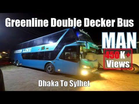Green Line Double Decker   Dhaka To Sylhet   MAN 24.460 Bus Interior And Exterior
