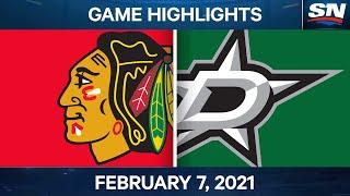 NHL Highlights | Blackhawks Vs. Stars – Feb. 07, 2021