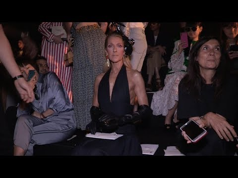 Celine Dion at Schiaparelli Haute Couture Fashion Show in Paris