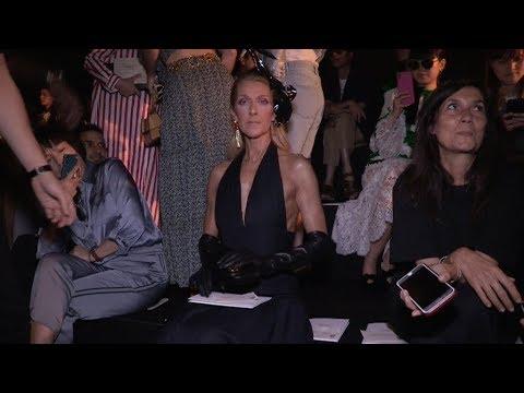 Celine Dion at Schiaparelli Haute Couture Fashion Show in Paris