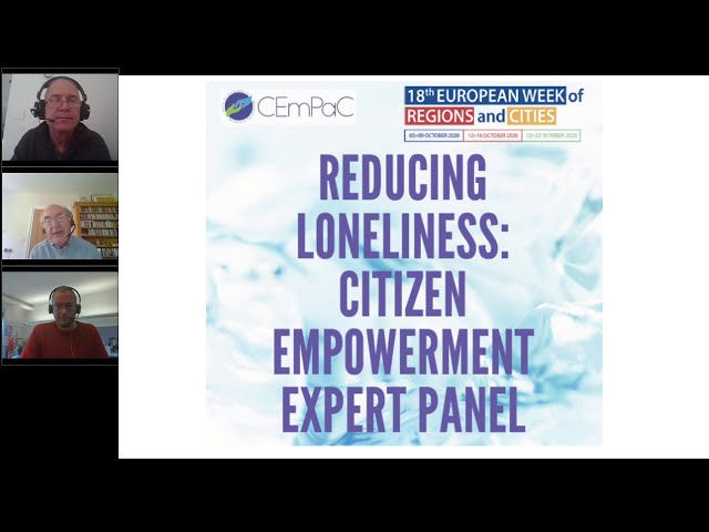 Reducing Loneliness 7: Citizen Empowerment Expert Panel - Discussion 2