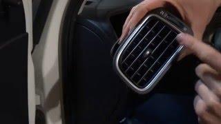 VW polo sedan / снятие левого воздуховода, переключателя света и боковой заглушки панели