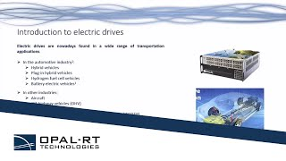 Webinar | HIL Testing of Electric Transportation