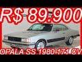 #PASTORE R$ 89.900 #Chevrolet #Opala #SS 1980 Coupé Prata Diamantina 250-S MT4 4.1 171 cv 32,5 kgfm