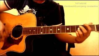 "Hawak Kamay Chords ""Yeng Constantino"" ChordsWorld.com Guitar Tutorial"