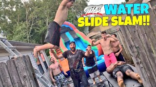 INCREDIBLE WATER SLIDE MATCH! WINNER BECOMES NUMBER 1 CHICKEN TENDER TO CHAMPIONSHIP! thumbnail
