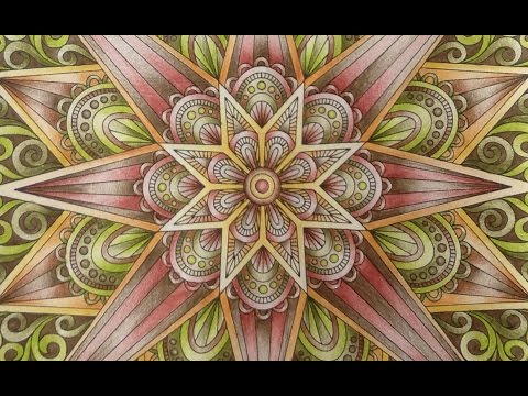 Kaleidoscope Mandala Designs Color Tutorial Faber