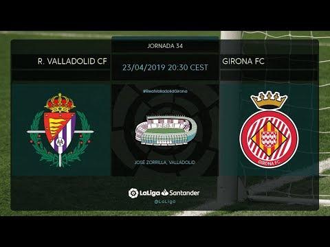 Calentamiento R Valladolid Cf Vs Girona Fc Youtube