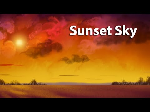 Corel Painter Tutorial - How To Paint A Sunset Sky