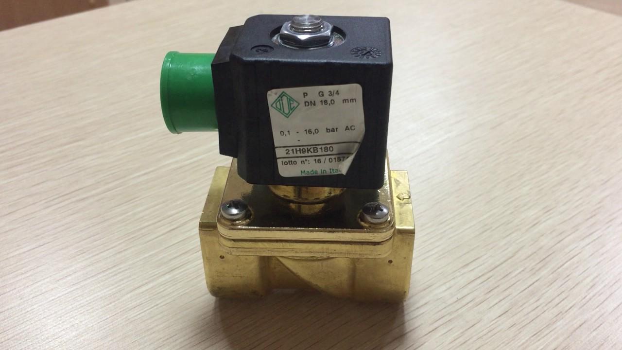 b1e19ca46df Обзор электромагнитного клапан непрямого действия ODE 21H9KB180 нормально  закрытый