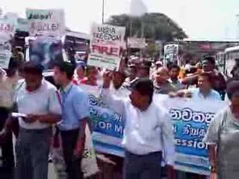Protest march against threats to media and censorship
