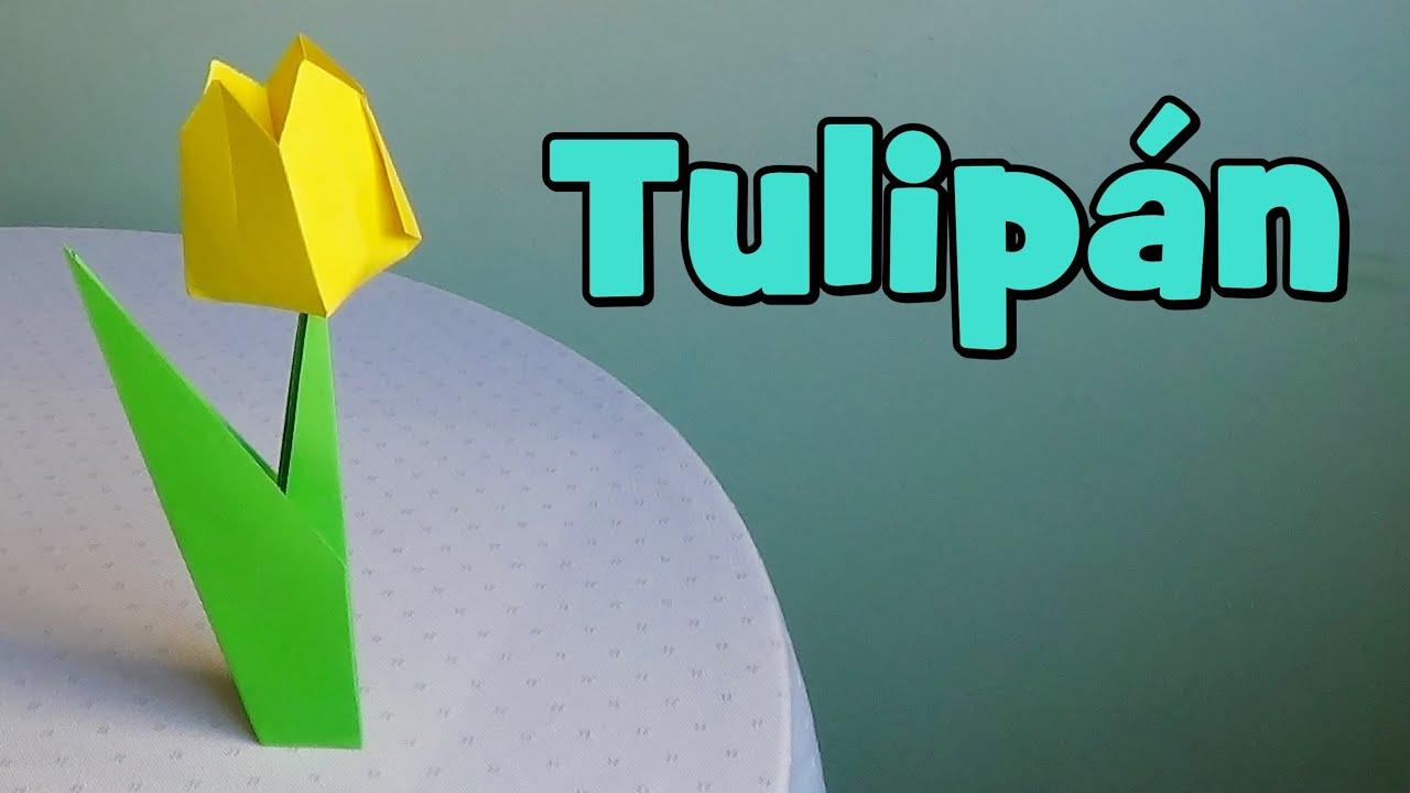 C mo hacer un tulip n de papel youtube - Como hacer jarrones de papel ...