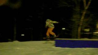 bs nose slide at ski sawmill