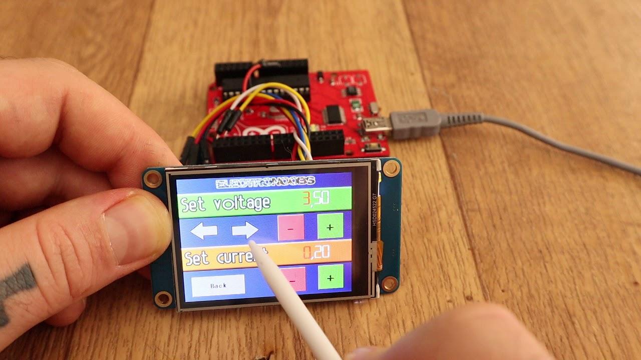 Nextion TFT Arduino power supply interface