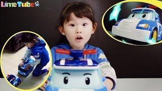 라임이의 로보카 폴리 경찰 구조대 스마트카 타요 자동차 장난감 놀이 Lime & Toys 라임튜브