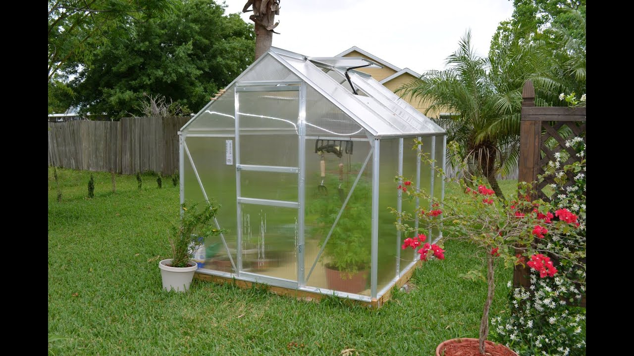 Lovely Review Of The Harbor Freight Greenhouse 6x8 Ft Item # 47712   YouTube