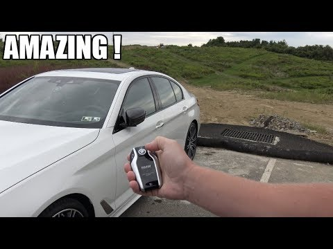 2018 bmw key fob. brilliant bmw parking the 2018 bmw 550i with a remote control  on bmw key fob