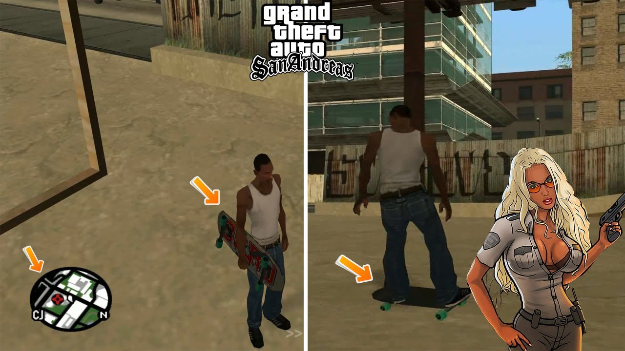 how to cheat skateboard in gta san andreas on pc