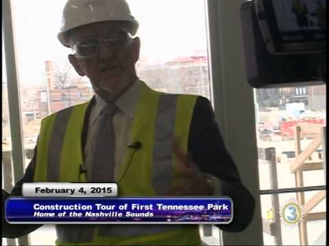 Construction Tour and Update First Tennessee Park / Nashville Sounds