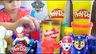 Brincando de Massinha Play Doh Super Massa Patrulha Canina com Dany e Cadu