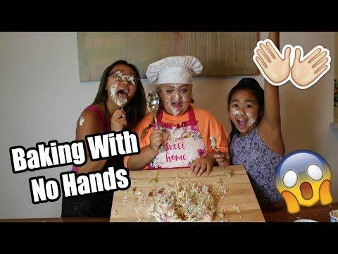 BAKING WITH NO HANDS! | Lauren Godwin