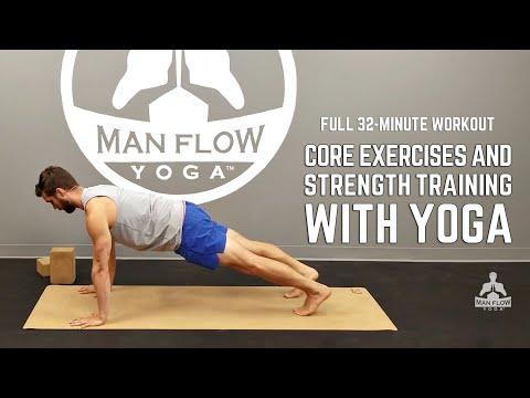 Core Exercises & Strength Training with Yoga - FULL WORKOUT | #yogaformen